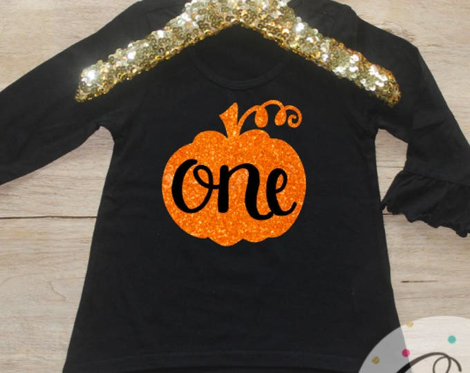 Birthday Girl Shirt / Baby Girl Clothes Pumpkin 1 Year Old Outfit First Birthday Shirt 1st Birthday Girl Outfit Cake Smash One TShirt 124
