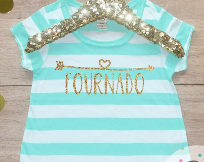 Fournado Birthday Girl Shirt / 4 Year Old Outfit Fourth Birthday Shirt 4th Birthday Girl Outfit Four Short Sleeve Birthday Party T-Shirt 246