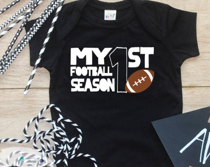 My First Football Season Bodysuit or Shirt / Baby Boy First Football TShirt 1st Football Season Babys Thanksgiving TShirt First Kick Off 245