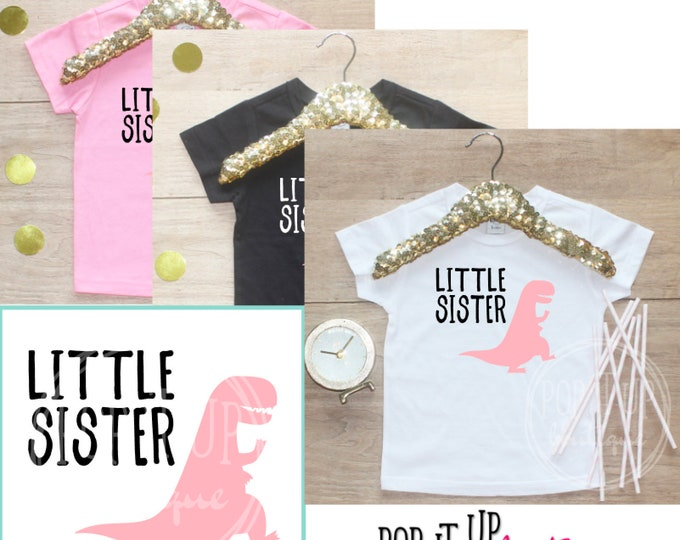 Little Sister Dinosaur Shirt / Baby Girl Clothes Sibling Outfit 3 Year Old Outfit Third Birthday TShirt 3rd Birthday Boy Party Toddler 315