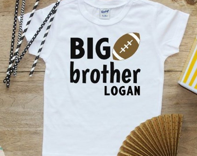 Big Brother shirt / Baby Boy Clothes Big Brother Football Shirt Sports Baby Announcement Shirt Pregnancy Reveal Shirt New Brother Baby 190