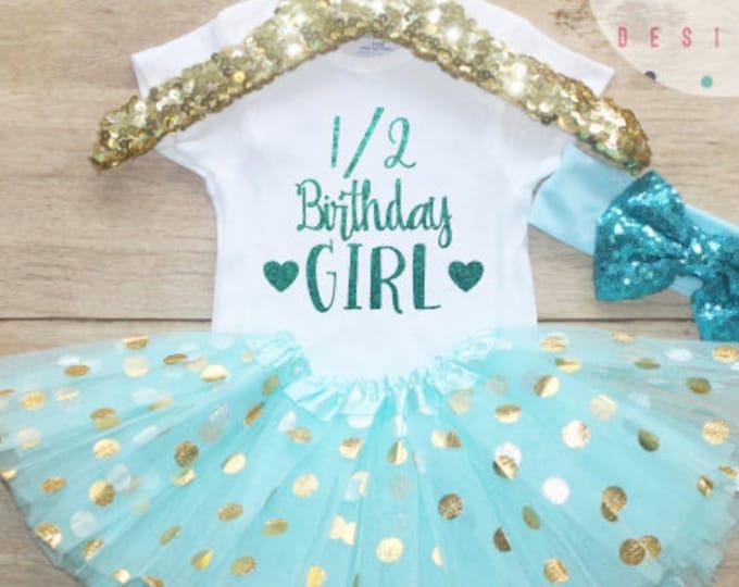 Half Birthday Tutu Outfit Set / Bodysuit 046