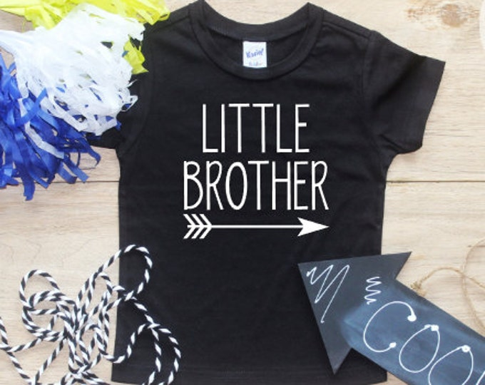 Little Brother shirt / Little Brother Announcement Shirt Little Brother Arrow Shirt Little Brother Tribal Family Pictures New Baby