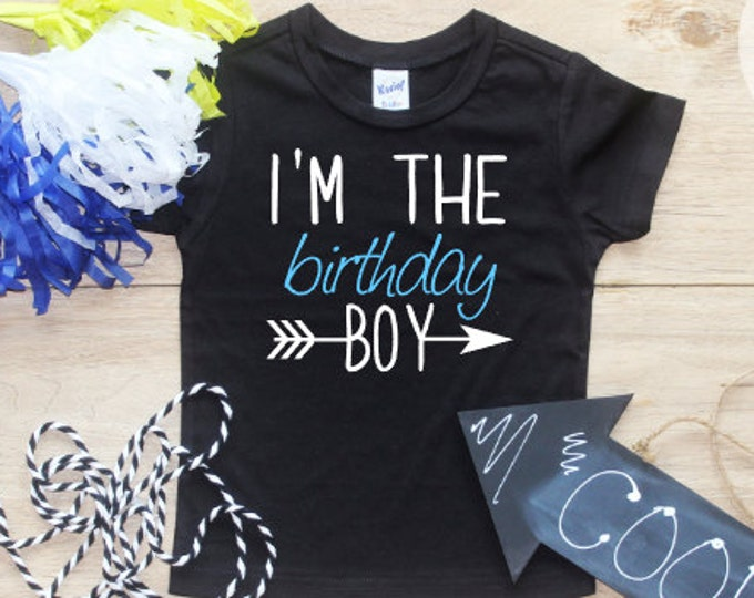 Birthday Boy Shirt / Baby Boy Clothes 1 Year Old Outfit First Birthday TShirt 1st Birthday Boy Cake Smash Outfit One Bodysuit Toddler 216