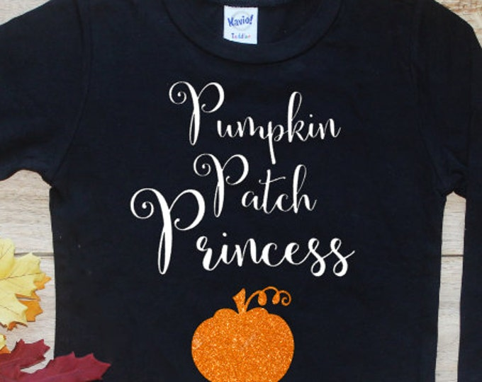 Pumpkin Patch Princess Shirt or Bodysuit / Baby Girl Clothes Baby Girl Outfit First Halloween Toddler Trick Treat Boo Tshirt Long Sleeve 157
