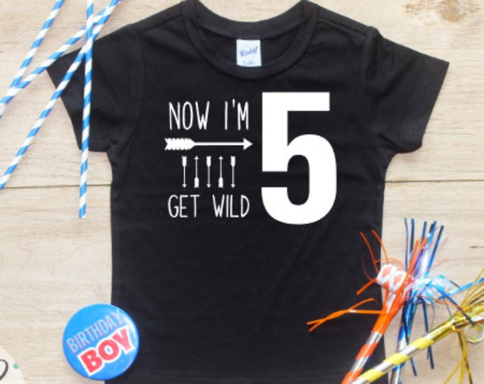 Birthday Boy Shirt / Baby Boy Clothes 5 Year Old Outfit Fifth Birthday TShirt 5th Birthday Boy Outfit Birthday Party Five Shirt Toddler