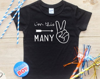 I'm This Many Birthday Boy Shirt / Baby Boy Clothes 2 Year Old Outfit Second Birthday TShirt 2nd Birthday Outfit Party Two Shirt Toddler 113