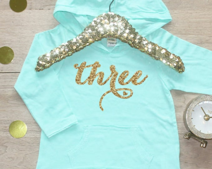 Birthday Girl Shirt / Baby Girl Clothes 3 Year Old Outfit Third Birthday Shirt 3rd Birthday Girl Outfit Hoodie Birthday Party Three Shirt 08