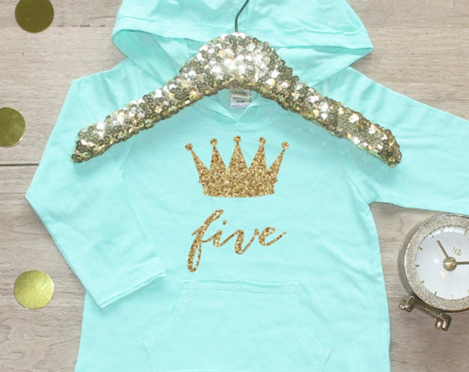 Birthday Girl Shirt / Toddler Girl Clothes 5 Year Old Outfit Fifth Birthday Shirt 5th Birthday Girl Outfit Hoodie Birthday Five Shirt 011