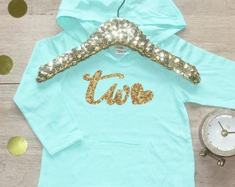 Birthday Girl Shirt / Baby Girl Clothes 2 Year Old Outfit Second Birthday Shirt 2nd Birthday Girl Outfit Hoodie Birthday Party Two Shirt 008