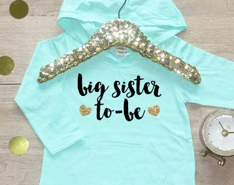 Big Sister Shirt / Baby Girl Clothes Shirt Sibling Shirt Family Pictures New Baby Announcement Shirt Big Sister Announcement Big Sister 007