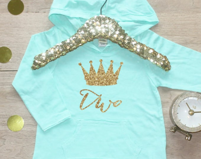 Birthday Girl Shirt / Baby Girl Clothes 2 Year Old Outfit Second Birthday Shirt 2nd Birthday Girl Outfit Hoodie Birthday Party Two Shirt 011