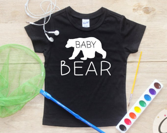 Baby Brother shirt / Baby Boy Clothes Little Brother Bear Shirt Big Brother Shirt Baby Announcement Shirt Toddler Baby Shower Gift Shirt 026