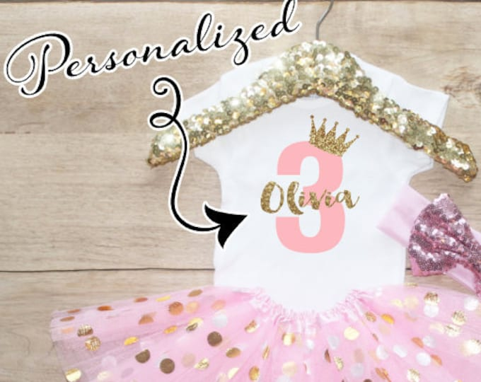 Personalized Age Birthday  Outfit Set / Three T-Shirt 067