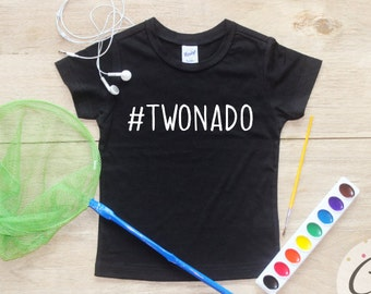 Twonado Birthday Boy Shirt or Bodysuit / 2nd Birthday T-Shirt 2 Birthday Shirt Two Year Old Outfit Boy Second Party Birthday Boy Clothes 094