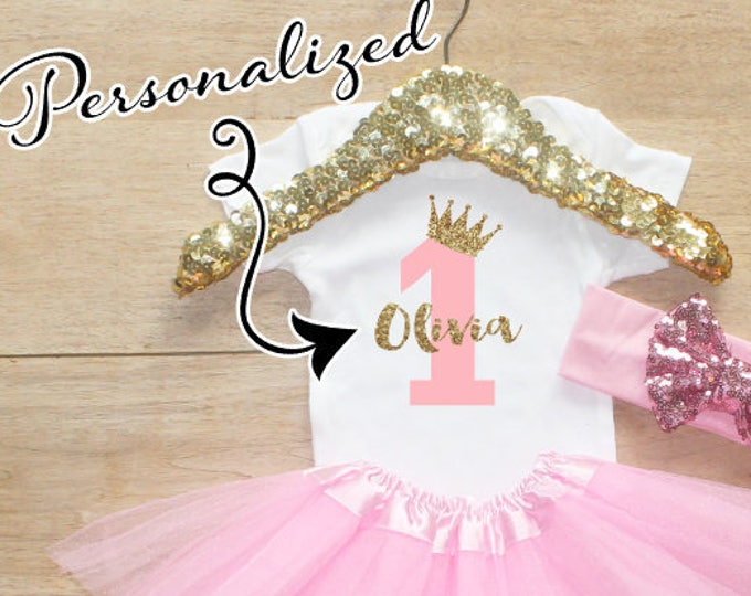 Personalized Age Birthday Tutu Outfit Set / One T-Shirt 067