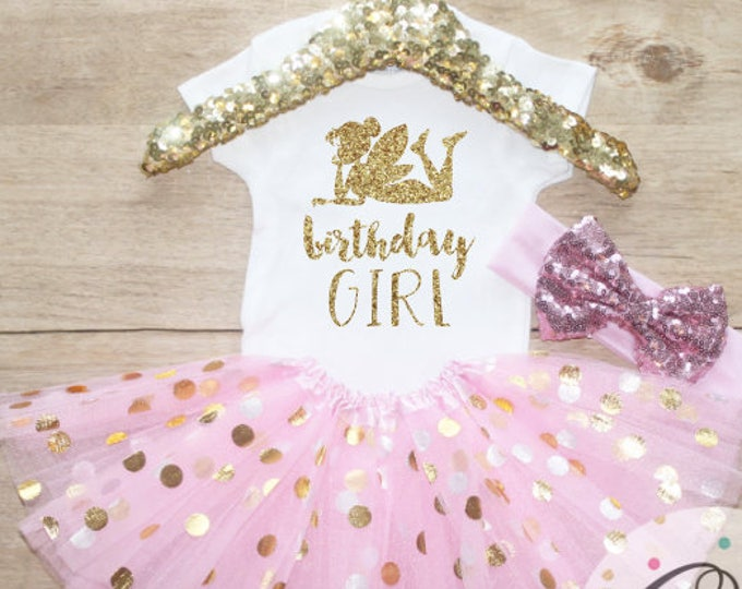 Tinkerbell Fairy Birthday Girl  Outfit Set / T-Shirt 061