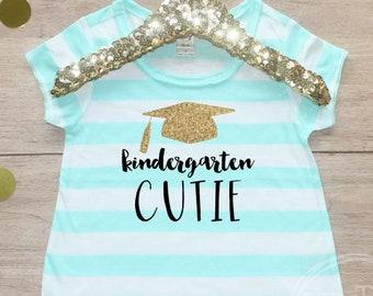 Back to School Shirt / Kindergarten Cutie Shirt 1st Day of School Shirt Preschool Class Outfit Pre-K T-Shirt First Elementary School 106