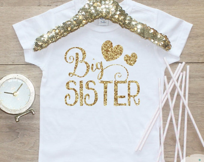 Big Sister Shirt / Baby Girl Clothes Big Sister Outfit Matching Little Sister Sibling Set Toddler Girl Pregnancy Announcement Baby Shower 49