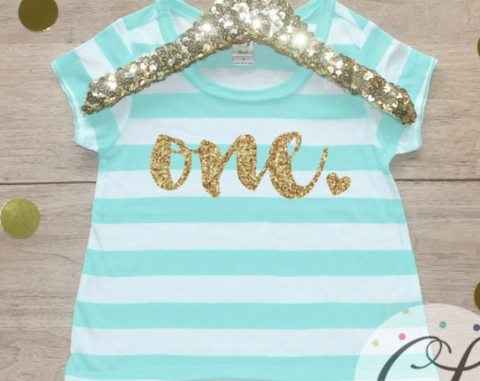 Birthday Girl Shirt / 1 Year Old Outfit First Birthday Shirt 1st Birthday Girl Outfit Short Sleeve Birthday One T-Shirt Cake Smash 224