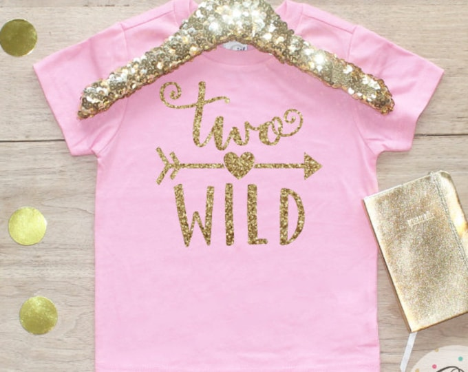 Birthday Girl Shirt / Baby Girl Clothes 2 Year Old Outfit Second Birthday Shirt 2nd Birthday Girl Outfit Tshirt Two Wild Shirt 059