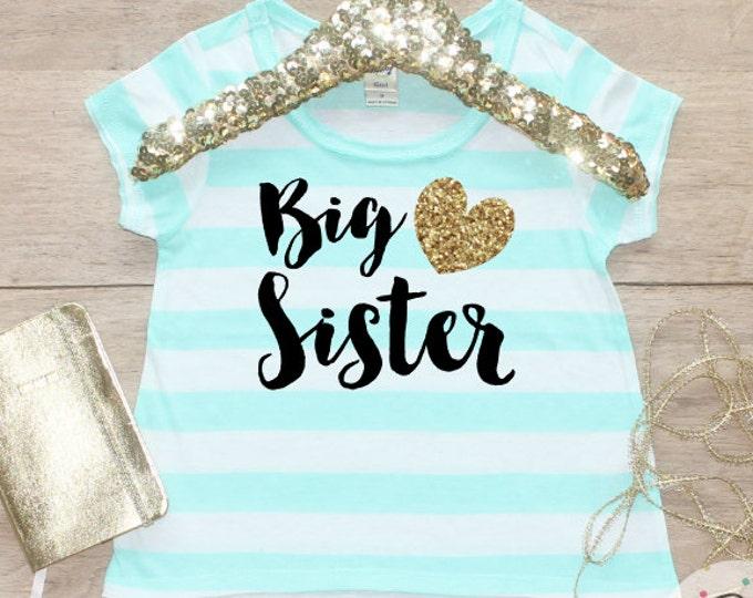 Big Sister Shirt / Baby Announcement Shirt Sibling Shirt Family Pictures New Baby Announcement Shirt Big Sister Announcement Big Sister 002