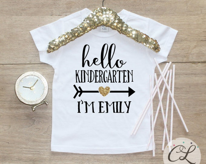 Back to School Shirt / Kindergarten Cutie Shirt 1st Day of School Shirt Preschool Tee Pre-K Class Outfit T-Shirt First Personalized 107