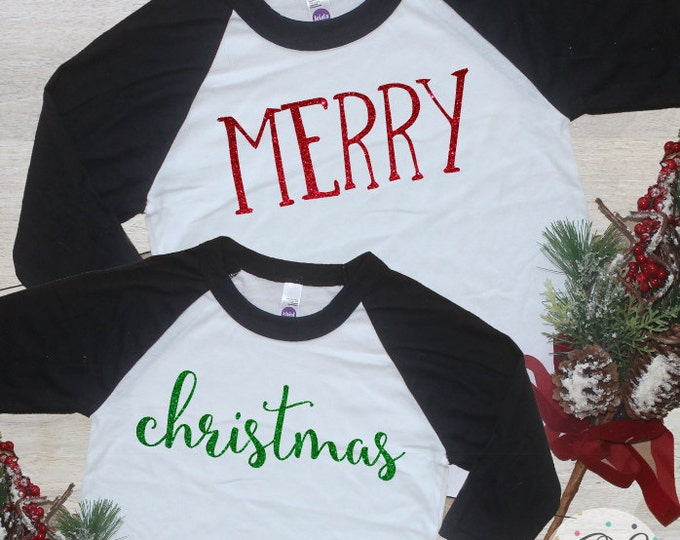 Christmas Sibling Matching Outfits / Holiday Baby Girl Clothes Big Sister Little Brother Shirt Christmas Sibling Set Merry Christmas 197