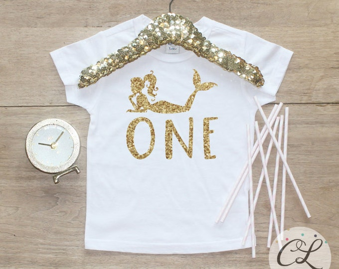Birthday Girl Shirt / Baby Girl Clothes 1 Year Old Outfit Mermaid Party First Birthday Tee 1st Birthday Girl Outfit Shirt Cake Smash 089