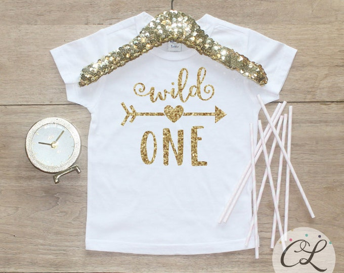 Birthday Girl Shirt / Baby Girl Clothes 1 Year Old Outfit First Birthday Shirt 1st Birthday Girl Outfit Tshirt One Wild Shirt 081