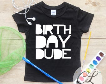 Birthday Dude Birthday Boy Shirt / Baby Boy Clothes 1 Year Old Outfit First Birthday TShirt 1st Cake Smash Outfit One Bodysuit Toddler 229