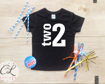 Birthday Boy Shirt / Baby Boy Clothes 2 Year Old Outfit Second Birthday TShirt 2nd Birthday Boy Outfit Birthday Party Two Shirt Toddler 019