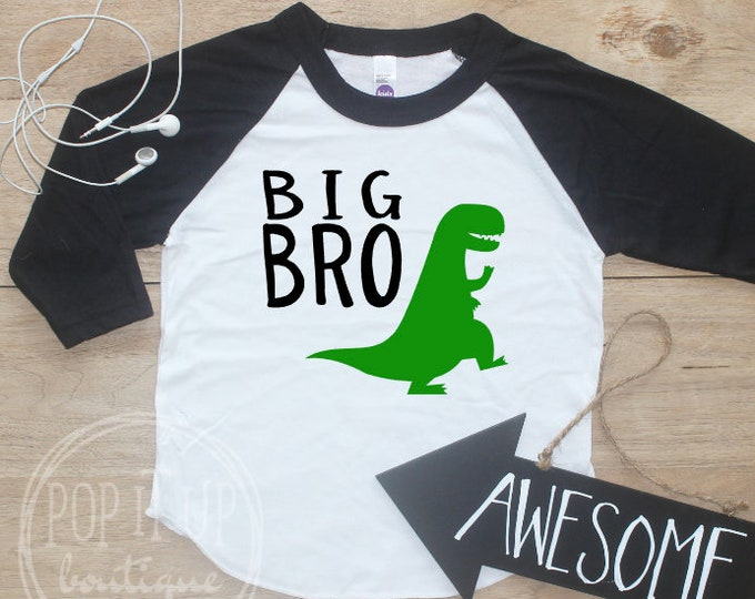 Big Brother Dinosaur Shirt / Baby Boy Clothes Big Brother Dino Shirt Little Brother Shirt Baby Announcement Toddler Baby Shower Gift 324