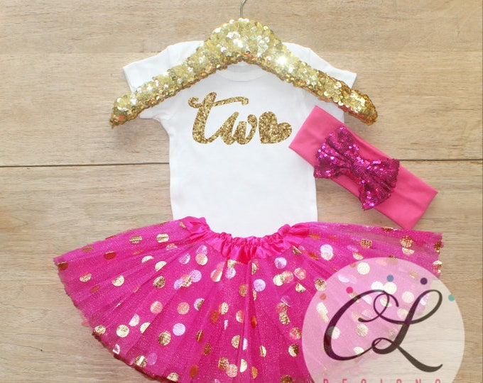 Second Birthday Tutu Outfit Set / Two T-Shirt 008