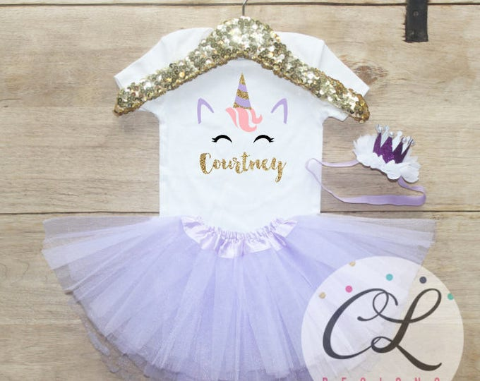 Personalized Unicorn Birthday Tutu Outfit / Bodysuit 223