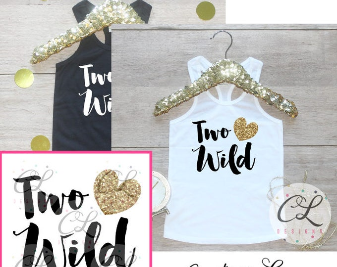 Birthday Girl Tank Top Shirt / Baby Girl Clothes 2 Year Old Outfit Second Birthday Shirt 2nd Birthday Girl Outfit Tshirt Two Wild Shirt 218