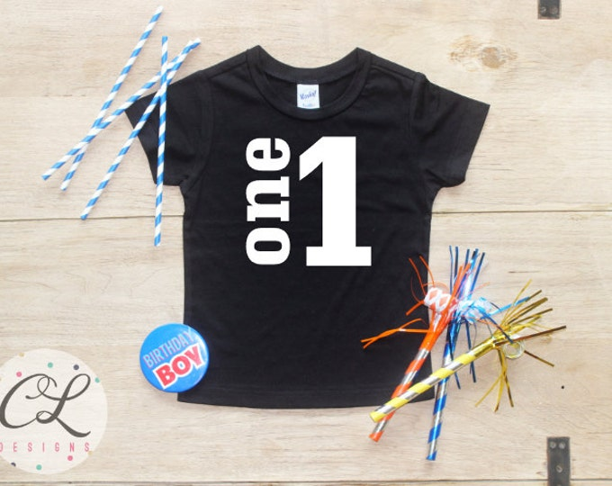 Birthday Boy Shirt / Baby Boy Clothes 1 Year Old Outfit First Birthday TShirt 1st Birthday Boy Cake Smash Outfit One Bodysuit Toddler 019