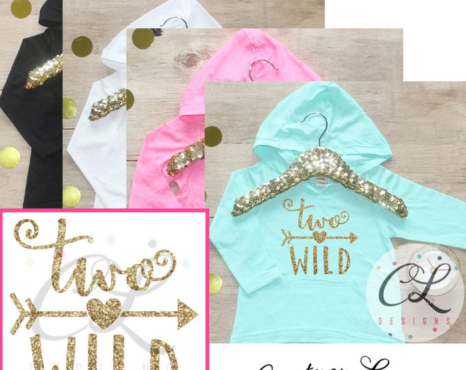 Two Wild Birthday Girl Shirt / Baby Girl Clothes 2 Year Old Outfit Second Birthday Shirt 2nd Birthday Girl Outfit Hoodie Birthday Party 059