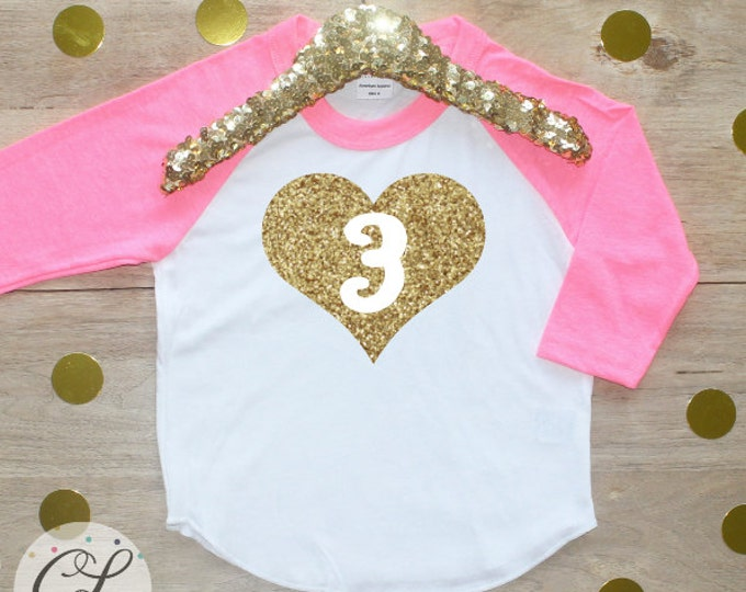 3rd Birthday Girl Shirt / Baby Girl Clothes Wild and Three 3 Year Old Outfit Third Birthday Shirt 3rd Birthday Girl Outfit Three Raglan 009