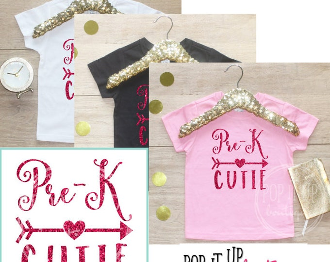 Back to School Shirt / Pre-K Cutie Shirt 1st Day of School Shirt Preschool Tee Kindergarten Class Outfit T-Shirt First Elementary School 105