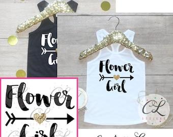 Flower Girl Shirt / Petal Patrol Shirt Flower Girl Outfit Wedding Rehearsal Tank Wedding Shirt Wedding Clothes Cute Flower Girl Shirt 016