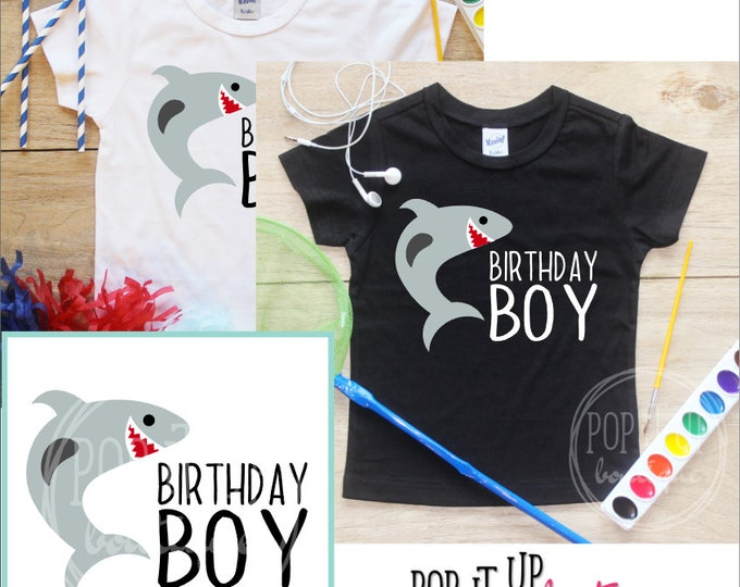 Shark Birthday Boy Shirt /Baby Boy Clothes Year Old Outfit Birthday TShirt Birthday Boy Cake Smash Outfit Bodysuit Toddler Jaws Jawesome 304