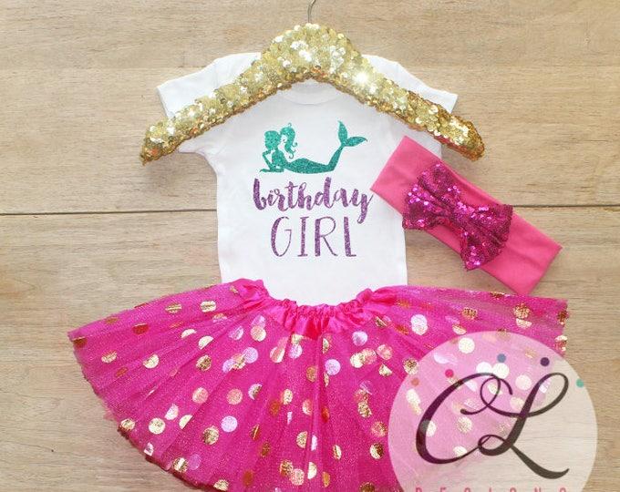 Birthday Girl Mermaid  Outfit / Bodysuit 050