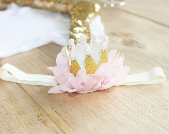 Crown Headband - Light Pink AND Lavender available