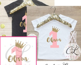 Birthday Girl Shirt / Baby Girl Clothes Princess 1 Year Old Outfit First Birthday Bodysuit 1st Birthday Girl Outfit Cake Smash One TShirt 67