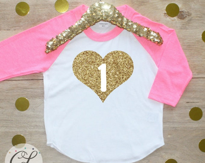 1st Birthday Girl Shirt / Baby Girl Clothes 1 Year Old Outfit First Birthday Shirt 1st Birthday Girl Outfit One Raglan Cake Smash Outfit 009