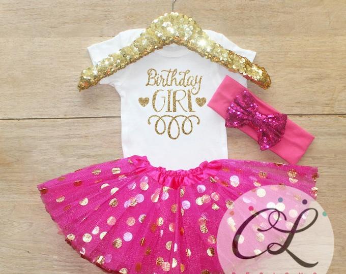 Birthday Girl Tutu Outfit Set / Bodysuit 045