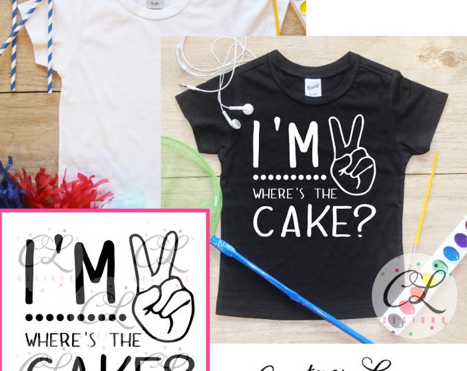 I'm This Many Birthday Boy Shirt Bodysuit / 2nd Birthday T-Shirt 2 Birthday Two Year Old Outfit Boy Second Toddler Party Tee 093