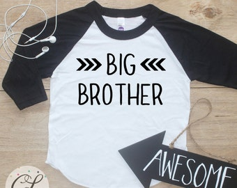 Big Brother shirt / Baby Boy Clothes Big Brother TShirt Little Brother Shirt Baby Announcement Shirt Toddler Baby Shower Gift Shirt 155