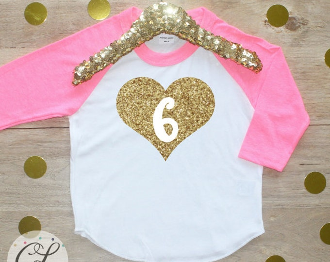 6th Birthday Girl Shirt / Baby Girl Clothes Six Fabulous 6 Year Old Outfit Sixth Birthday Shirt 6th Birthday Girl Outfit Six Raglan 009